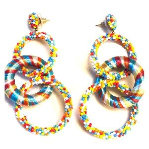 Large colorful earrings